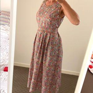 HANDMADE floral seersucker Prairie Dress Size 8